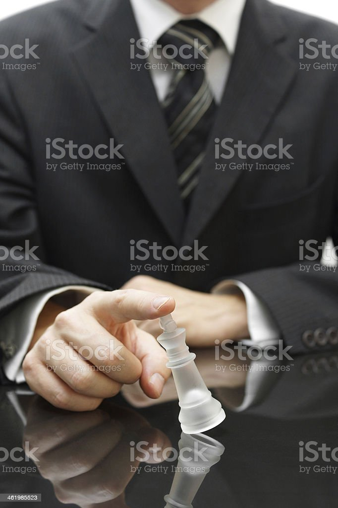 falling strategy concept with chess figure stock photo