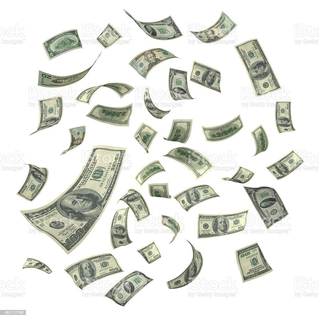Falling US Currency Money (XXXL) royalty-free stock photo