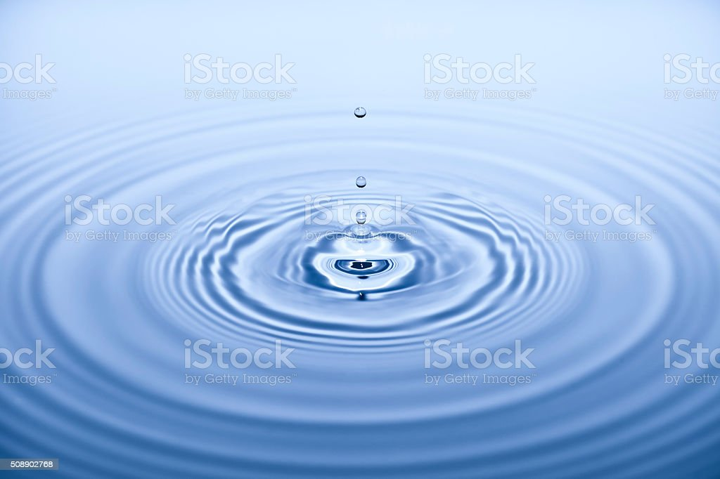 Falling Water Drops Background stock photo