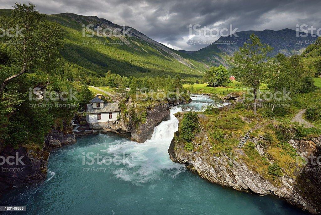 Falling Water, Norway royalty-free stock photo