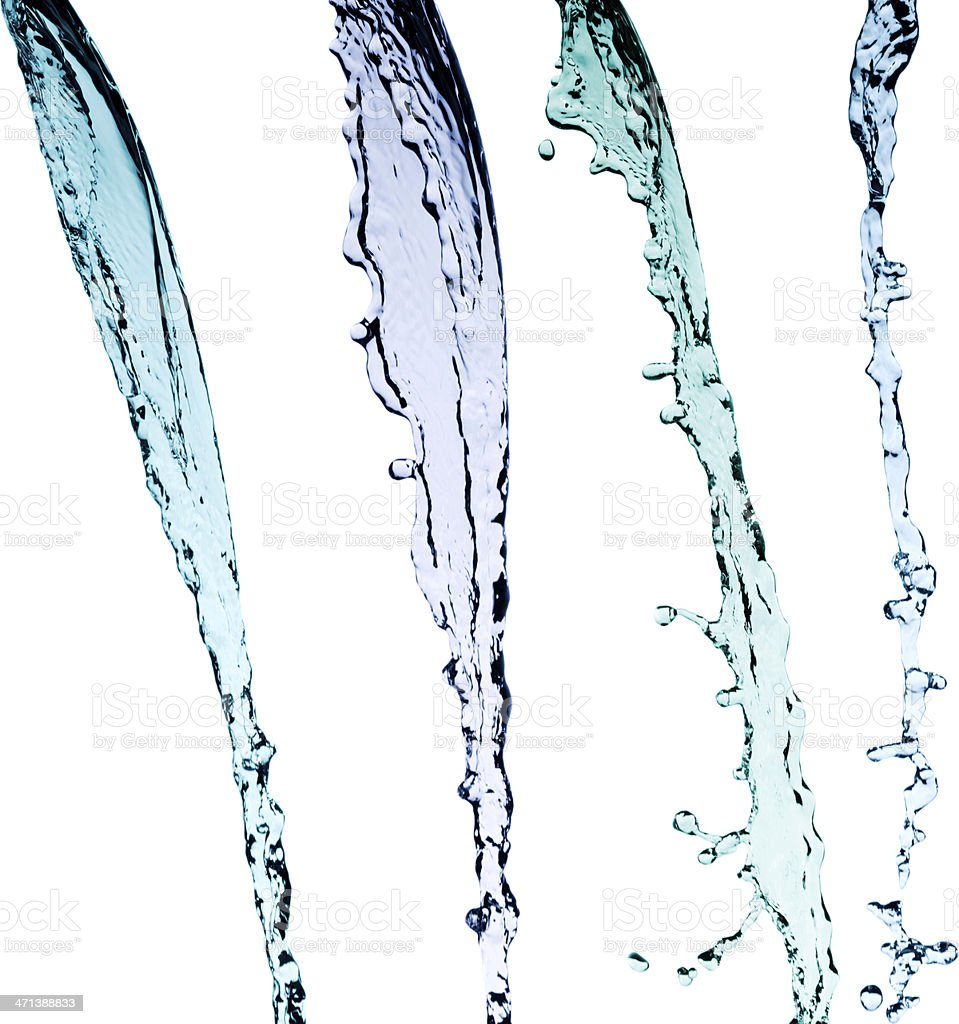 Falling water variations stock photo