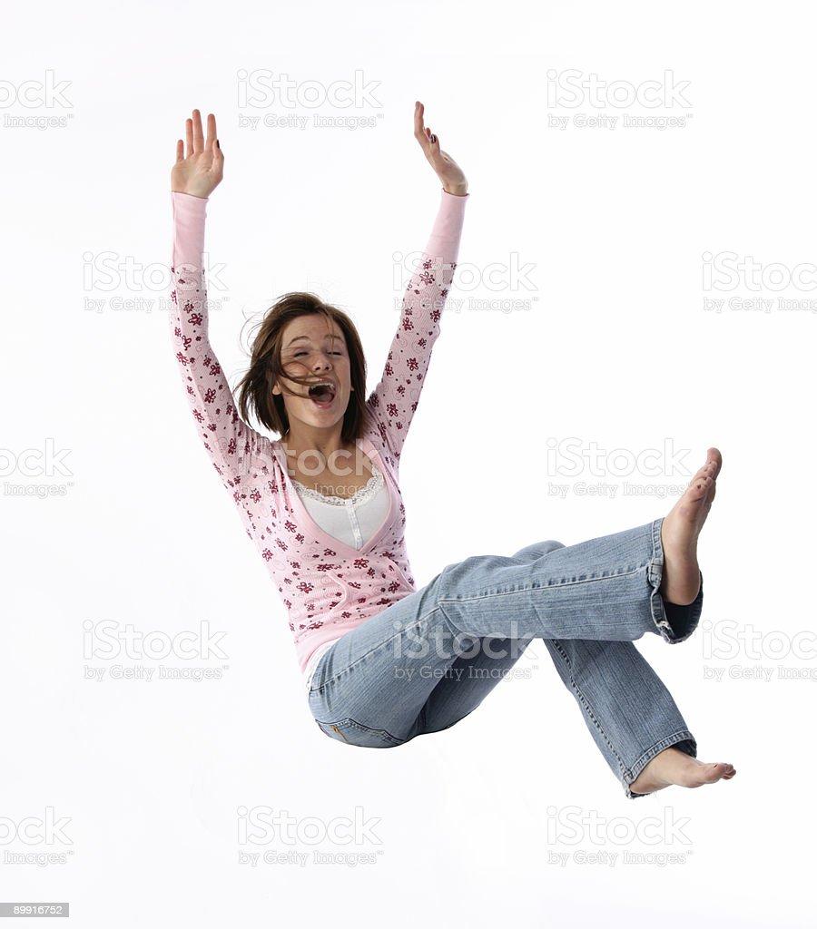 Falling woman royalty-free stock photo