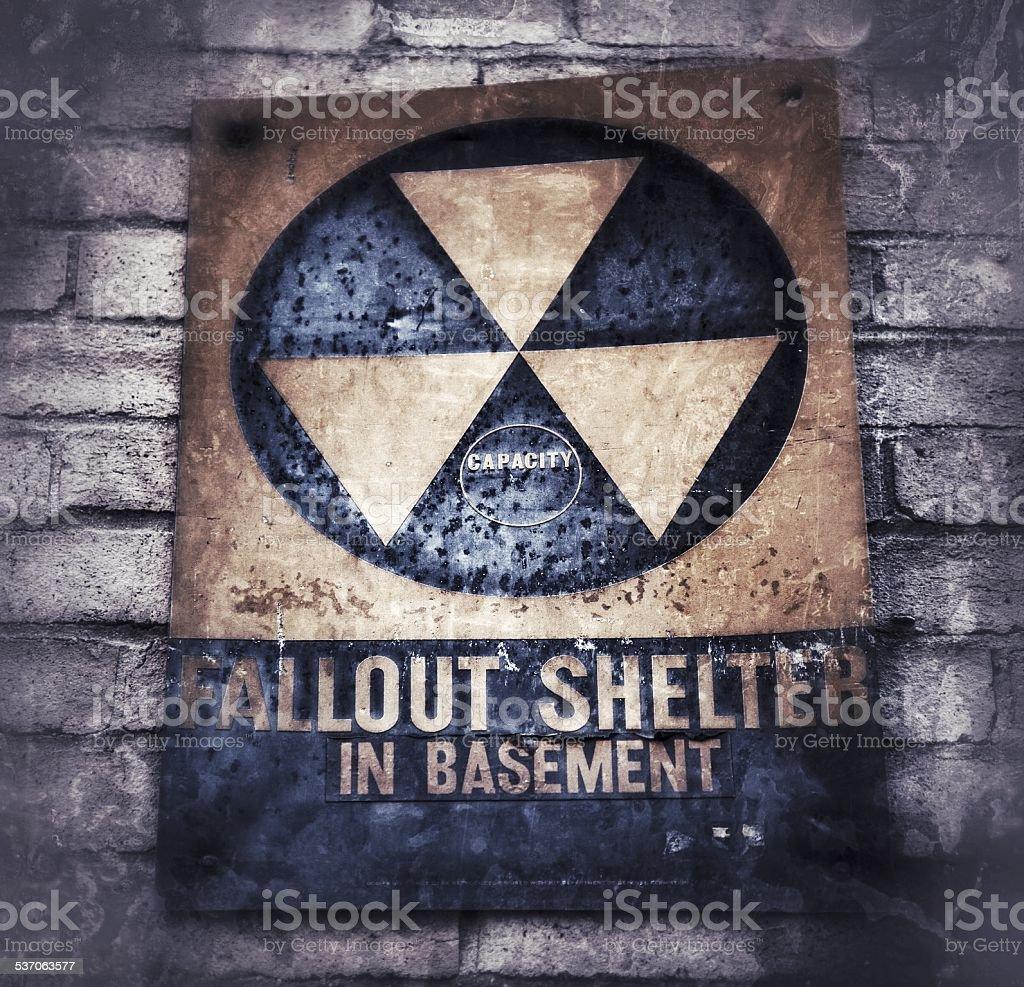 Fallout shelter stock photo