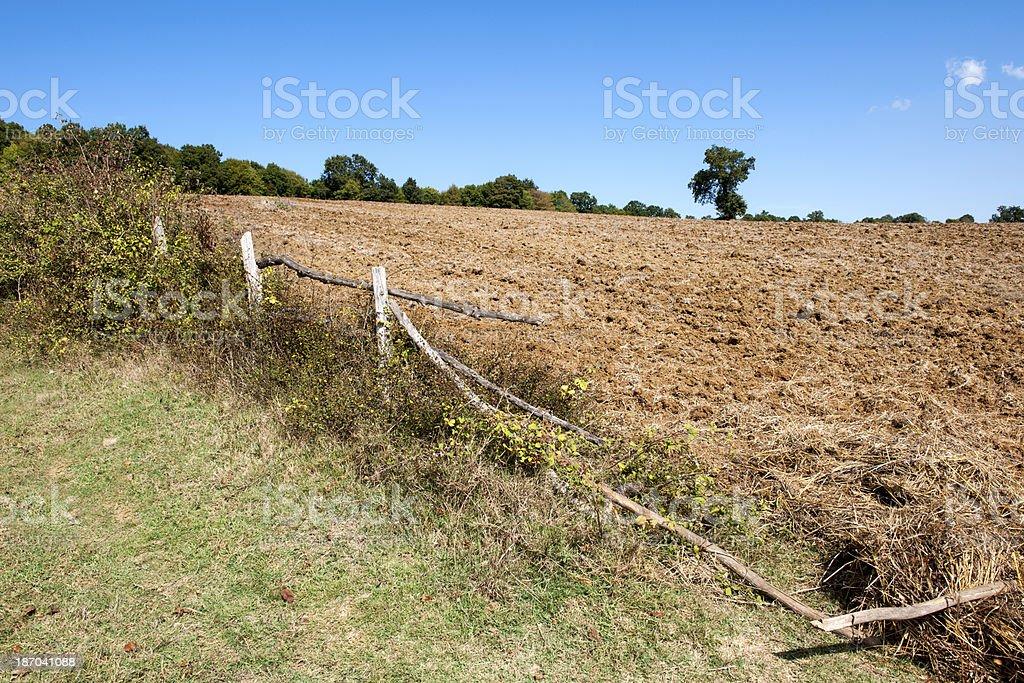 Fallow Field royalty-free stock photo