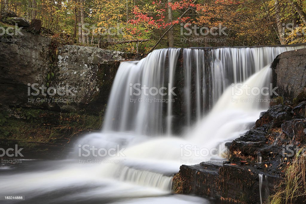 Falls and Autum royalty-free stock photo