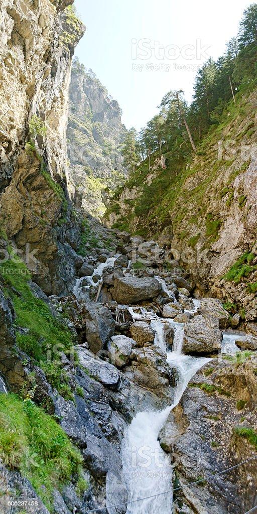 falls at Galitzen ravine stock photo
