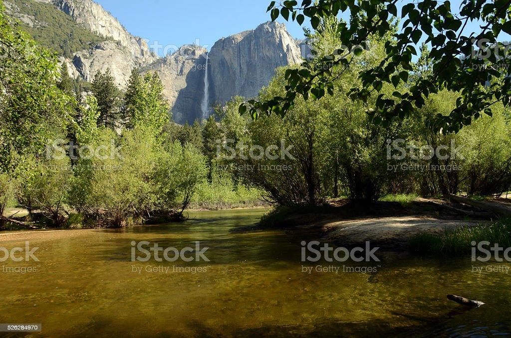 Falls at Yosemite stock photo