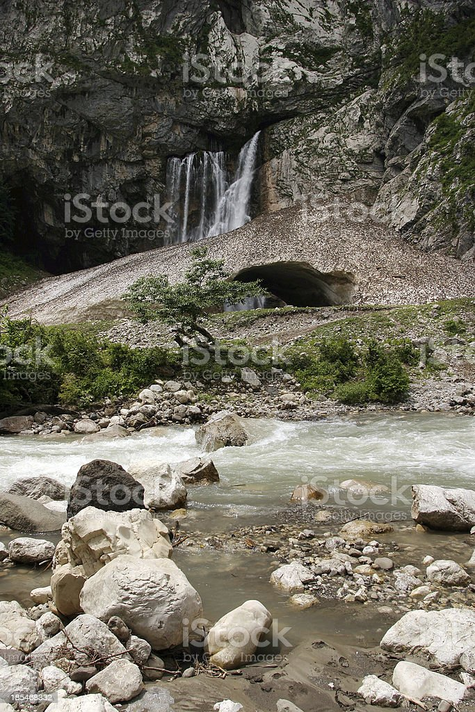Falls Gegsky royalty-free stock photo