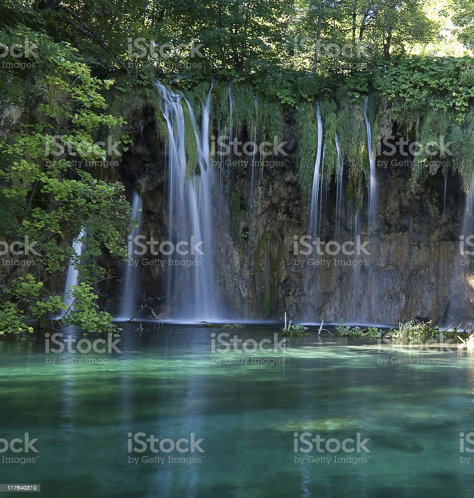 Falls in Plitvice royalty-free stock photo