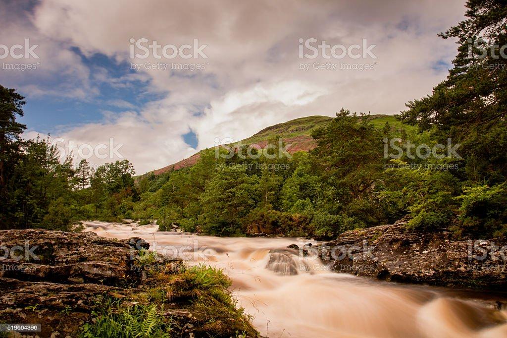 Falls of Dochart at Killin stock photo