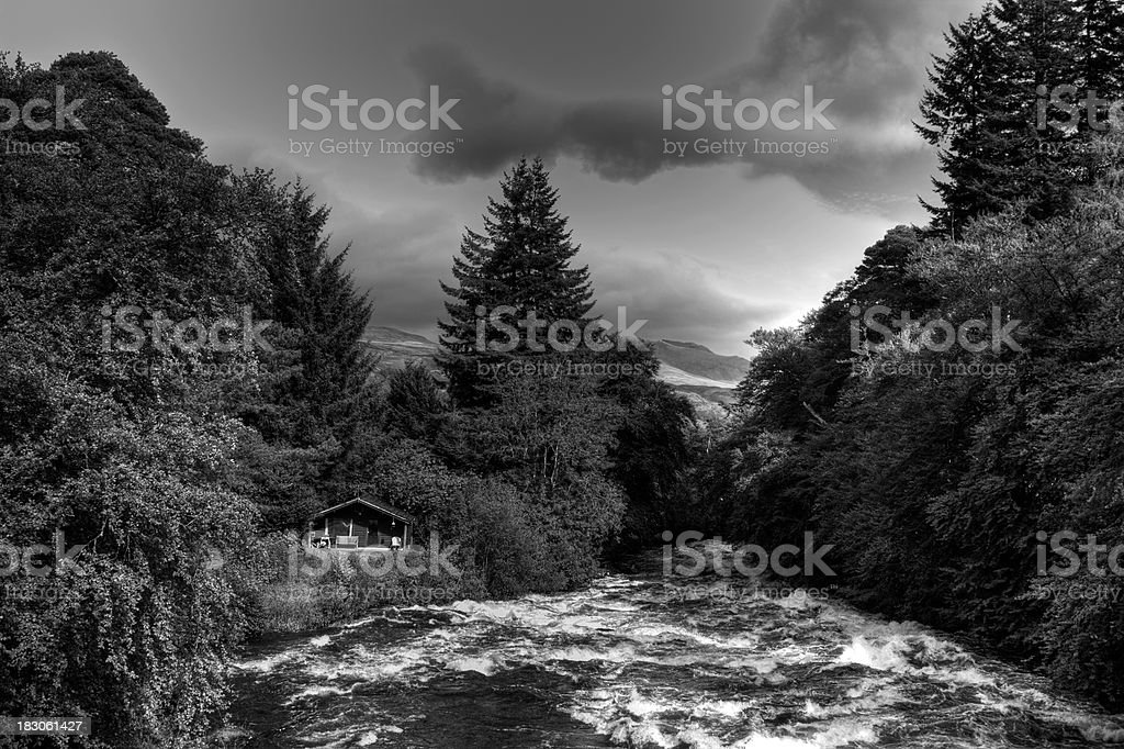'Falls Of Dochart,  Killin, Perthshire.' stock photo
