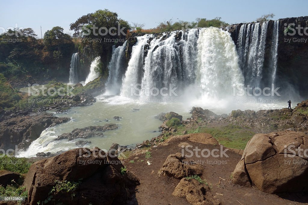 Falls of the Blue Nile stock photo