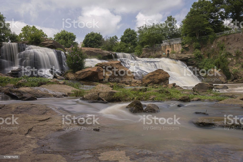 HDR Falls Park on The Reedy River royalty-free stock photo