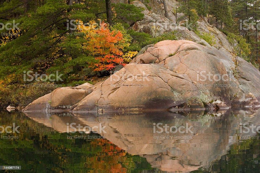 Fall's reflection royalty-free stock photo