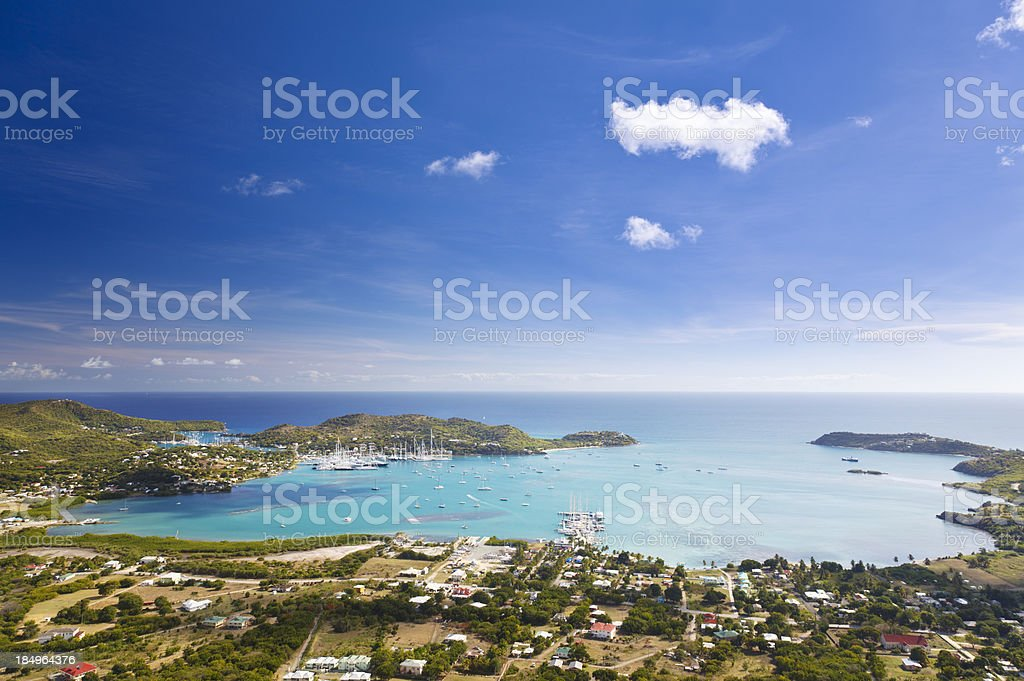 Falmouth Harbor, Antigua royalty-free stock photo