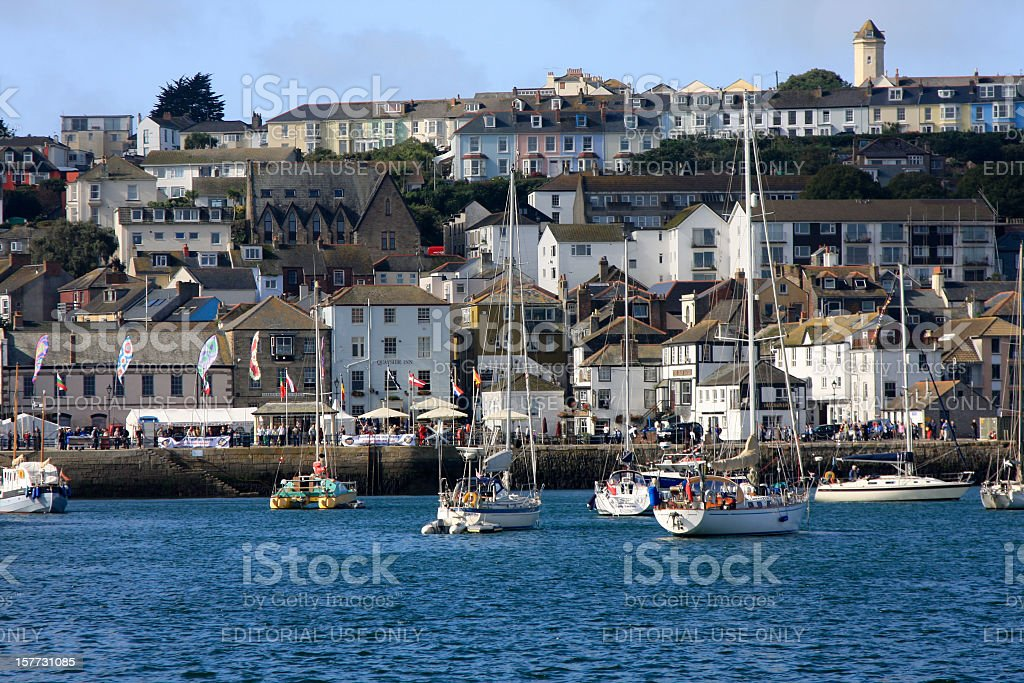 Falmouth in Cornwall, England stock photo