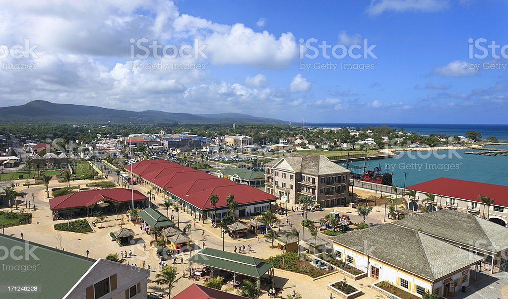 Falmouth Jamaica Shopping Area stock photo