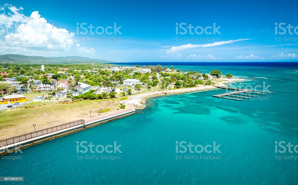 Falmouth port in Jamaica stock photo
