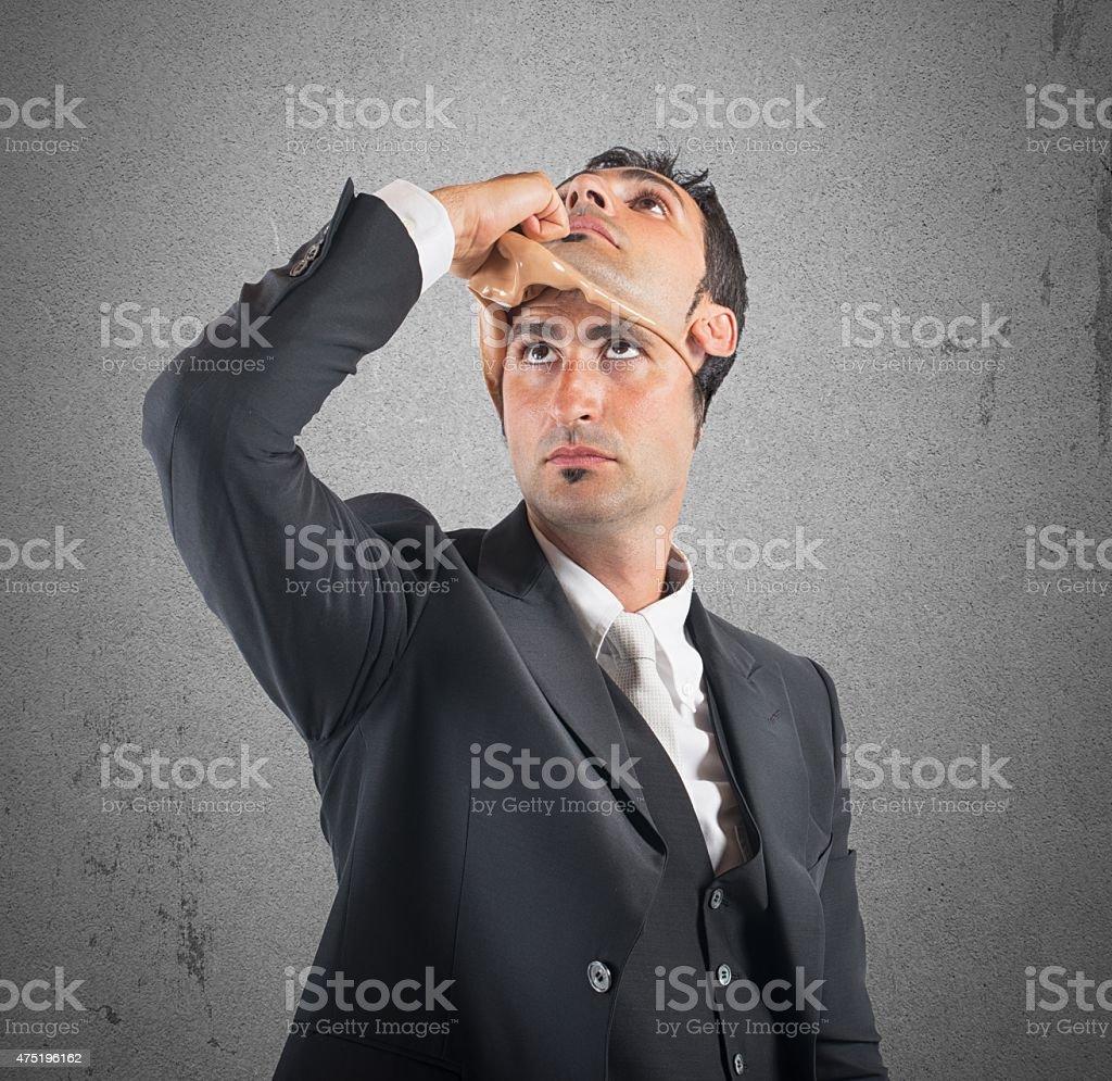 False and lying husband stock photo