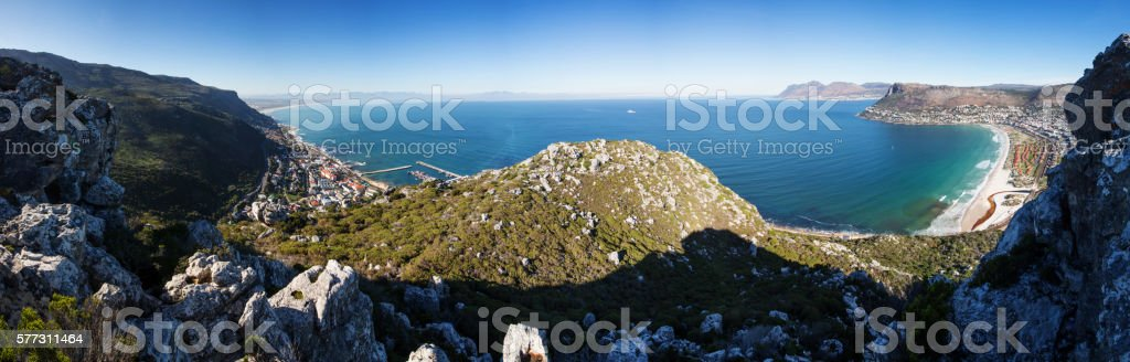 False Bay Cape Town Panoramic Landscape stock photo