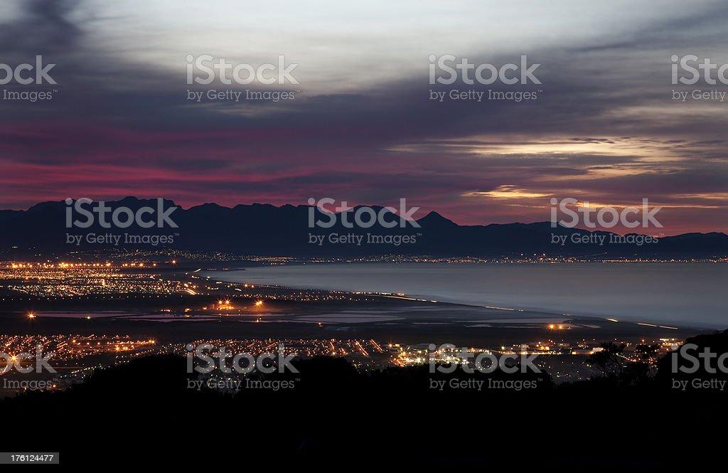 False Bay Shoreline royalty-free stock photo