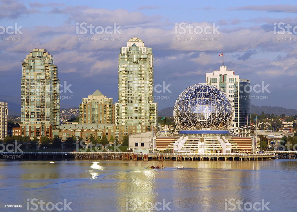 False Creek and Science World royalty-free stock photo
