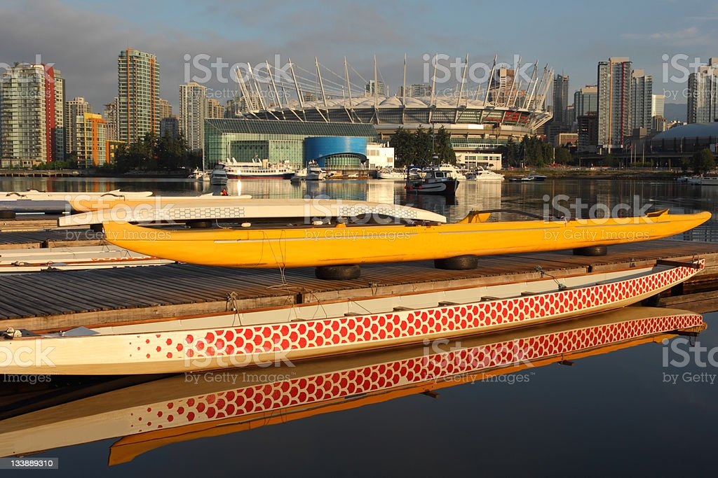 False Creek Dragon Boats, Vancouver stock photo