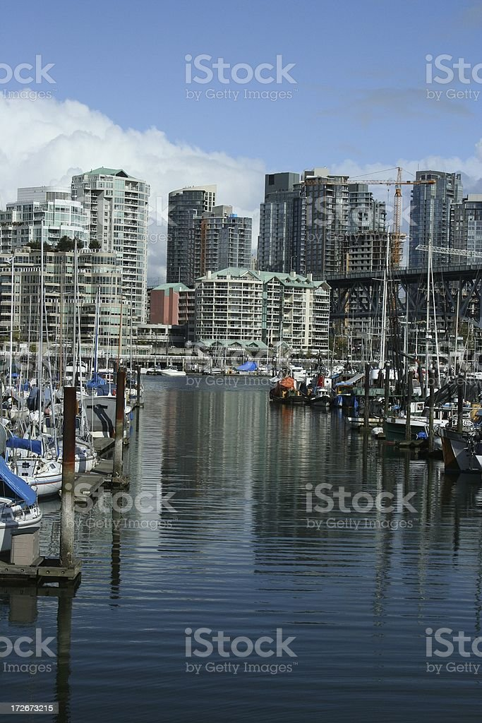 False Creek Marina Vancouver royalty-free stock photo
