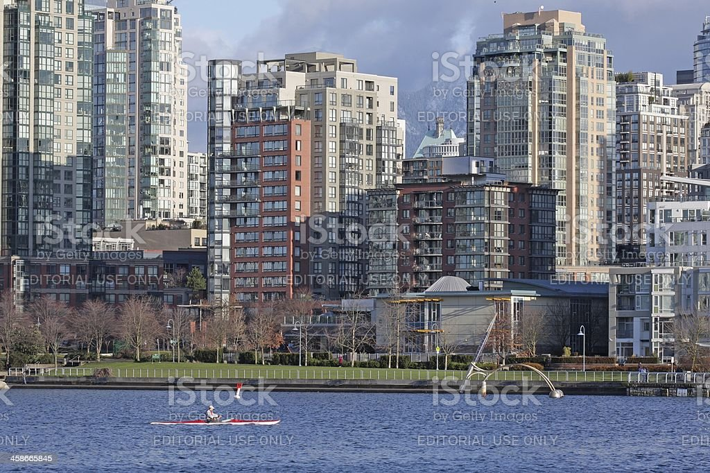 False Creek Waterfront, Vancouver in Winter royalty-free stock photo