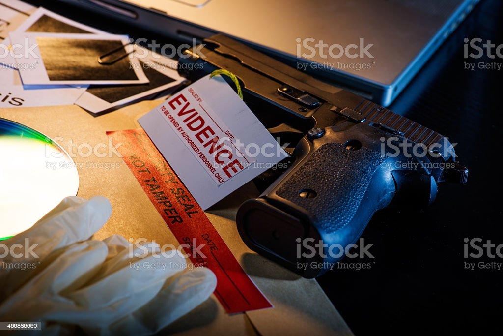 False evidence to murder stock photo