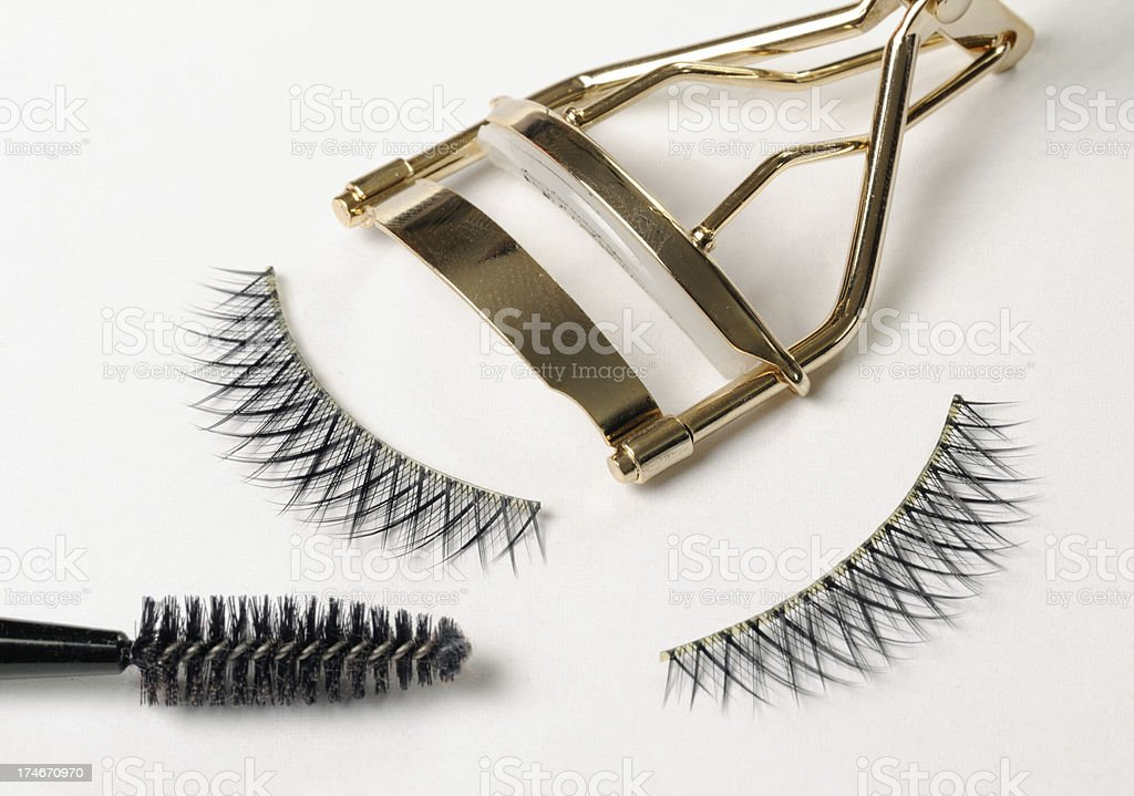 False Eyelashes - Tools of a Make-Up Artist (XXXL) stock photo