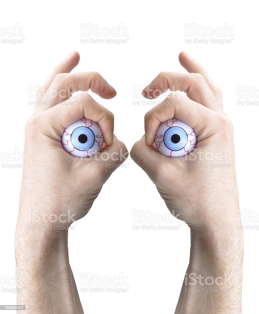 false eyes stock photo