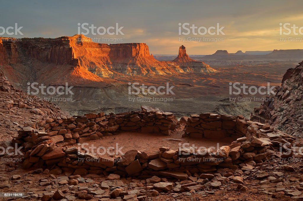 False Kiva and Candlestick Tower stock photo