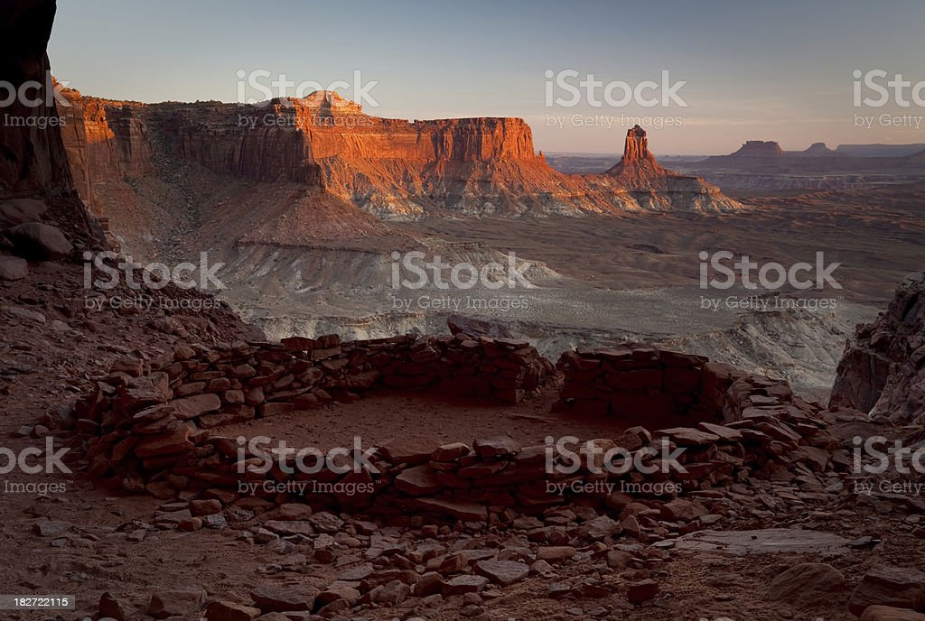 False Kiva Sunset at Canyonlands National Park royalty-free stock photo