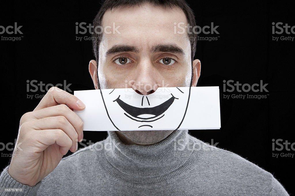 False smile royalty-free stock photo