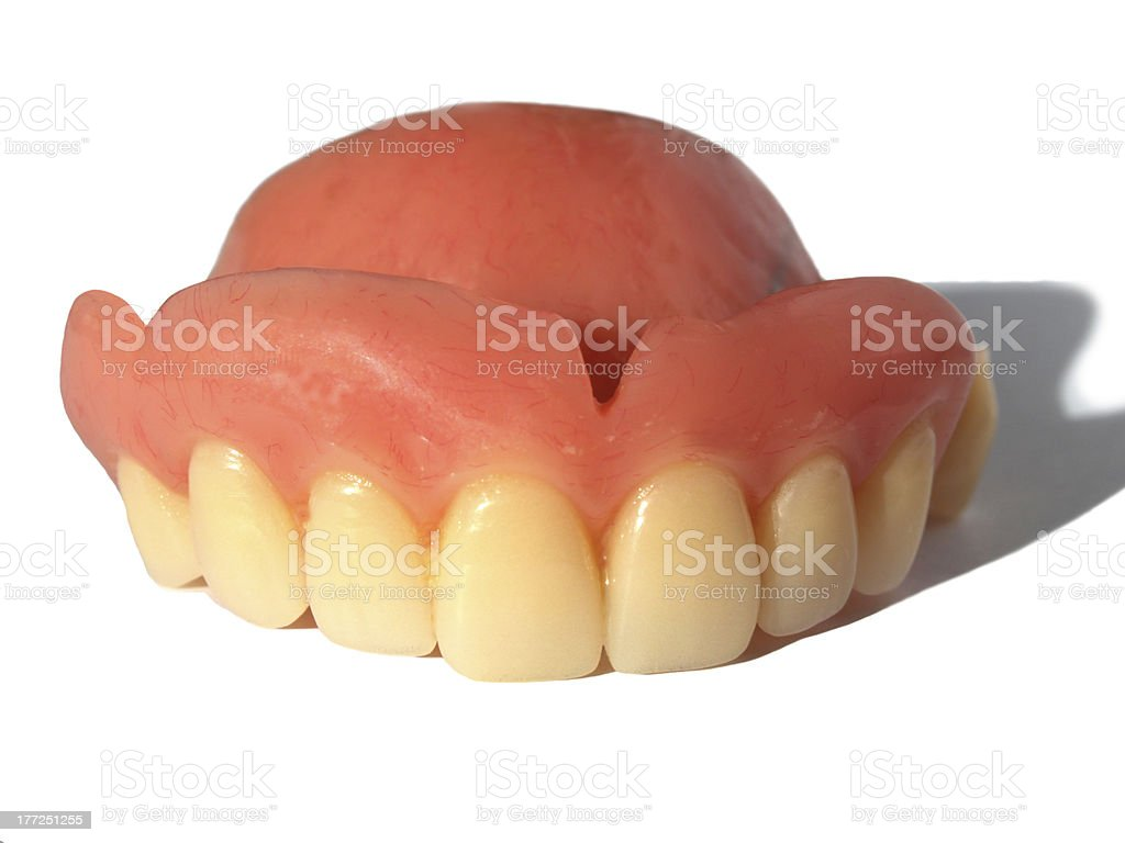 False teeth stock photo