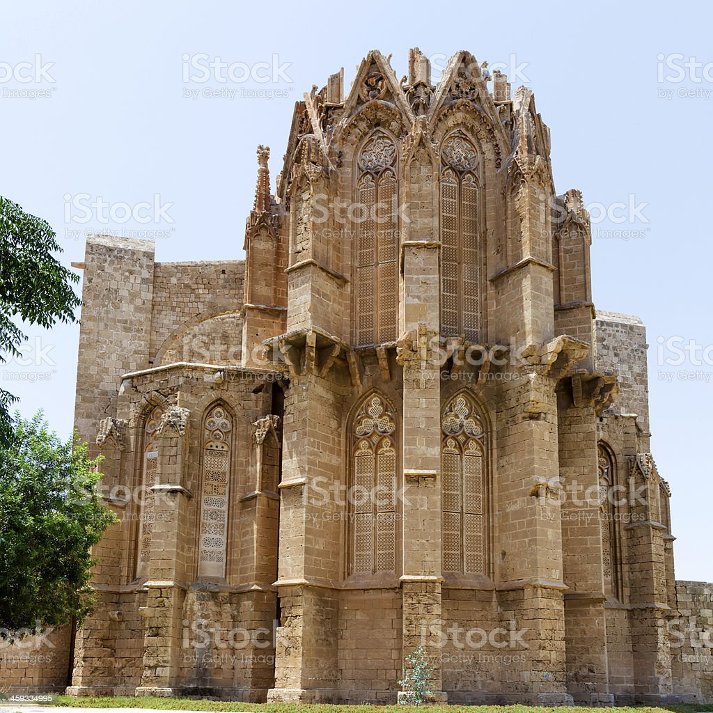 Famagusta gothic Cathedral, North Cyprus stock photo