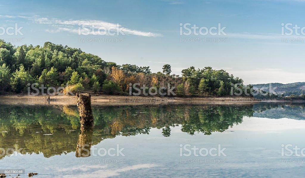 Famed oymapınar Lake in Turkey stock photo