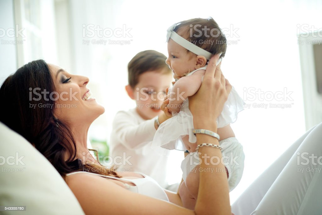 Families grow with love stock photo