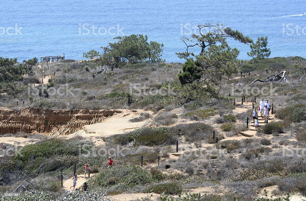 Families Hiking in San Diego stock photo