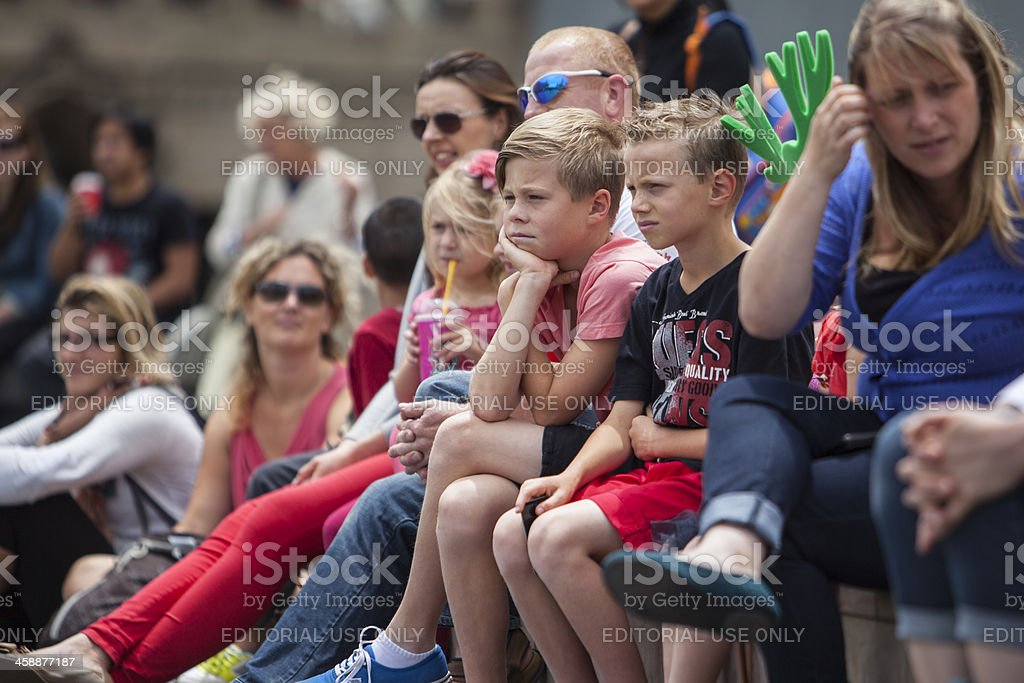 Families Watching in a Crowd royalty-free stock photo