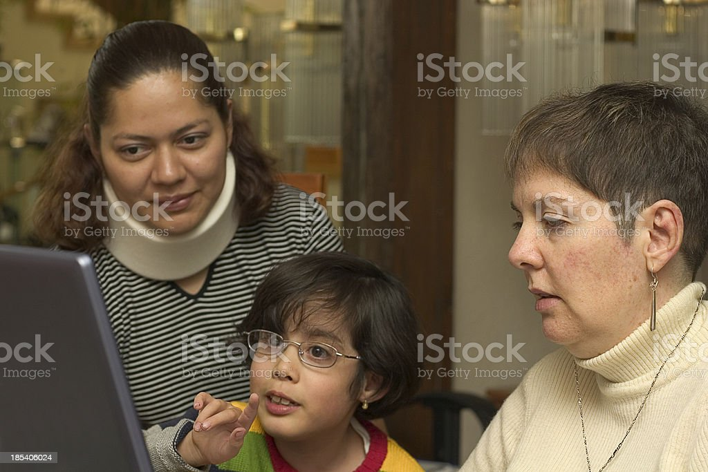 familiy surfing the web royalty-free stock photo