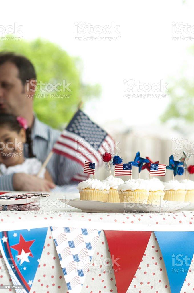Family 4th of July Celebration royalty-free stock photo