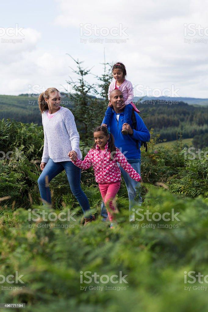 Family Adventure stock photo