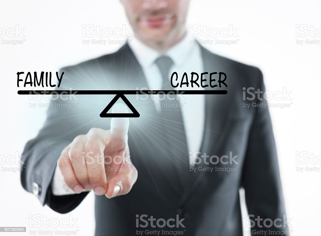 Family and career stock photo