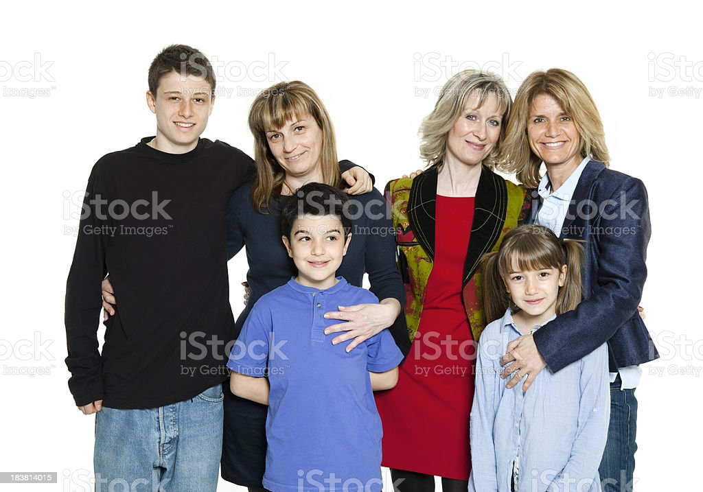 Family and friends royalty-free stock photo