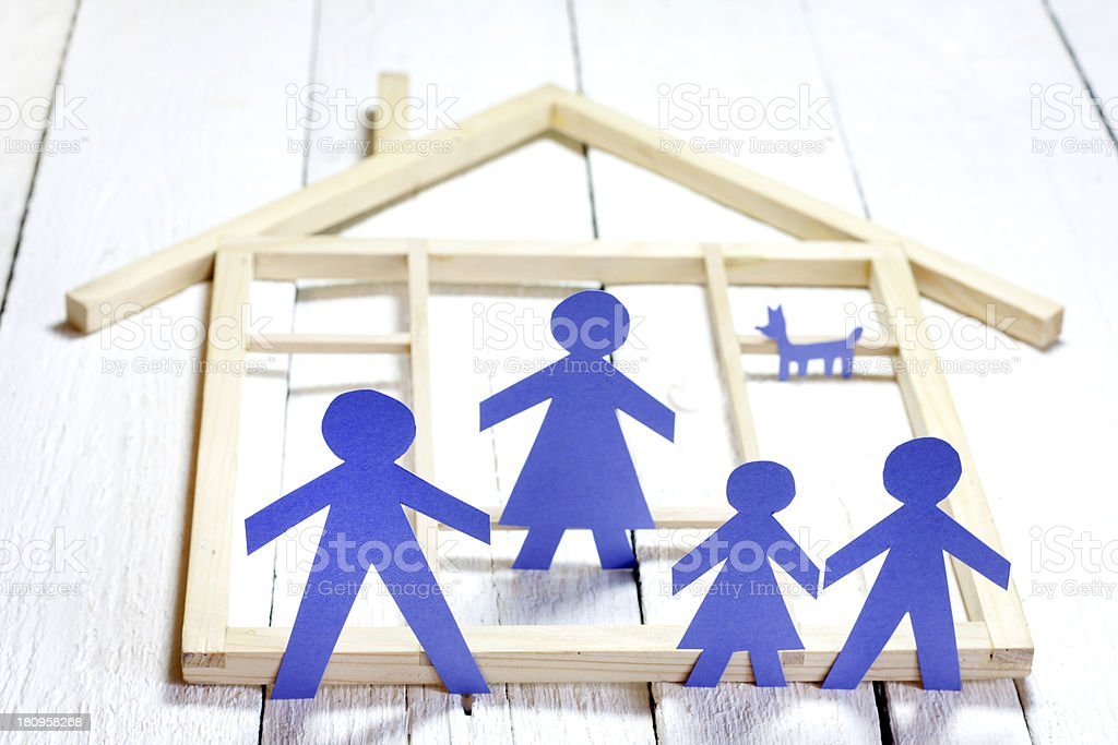 Family and home concept royalty-free stock photo