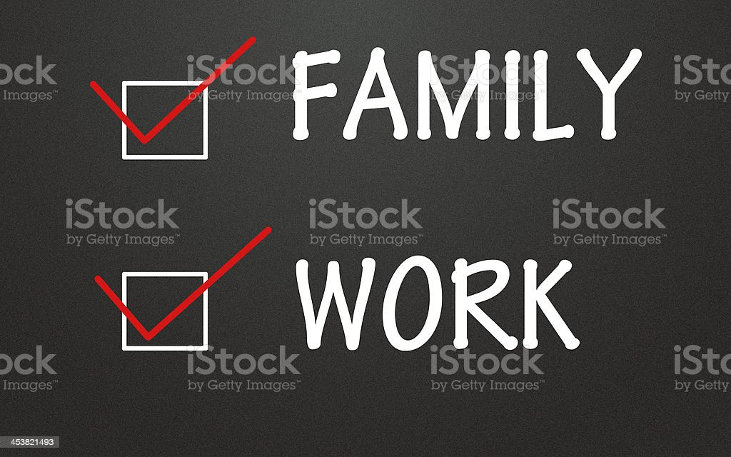 family and work choice stock photo