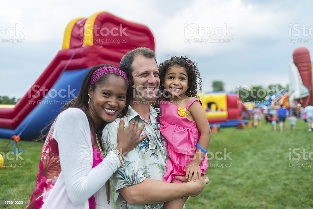Family at a Festival stock photo