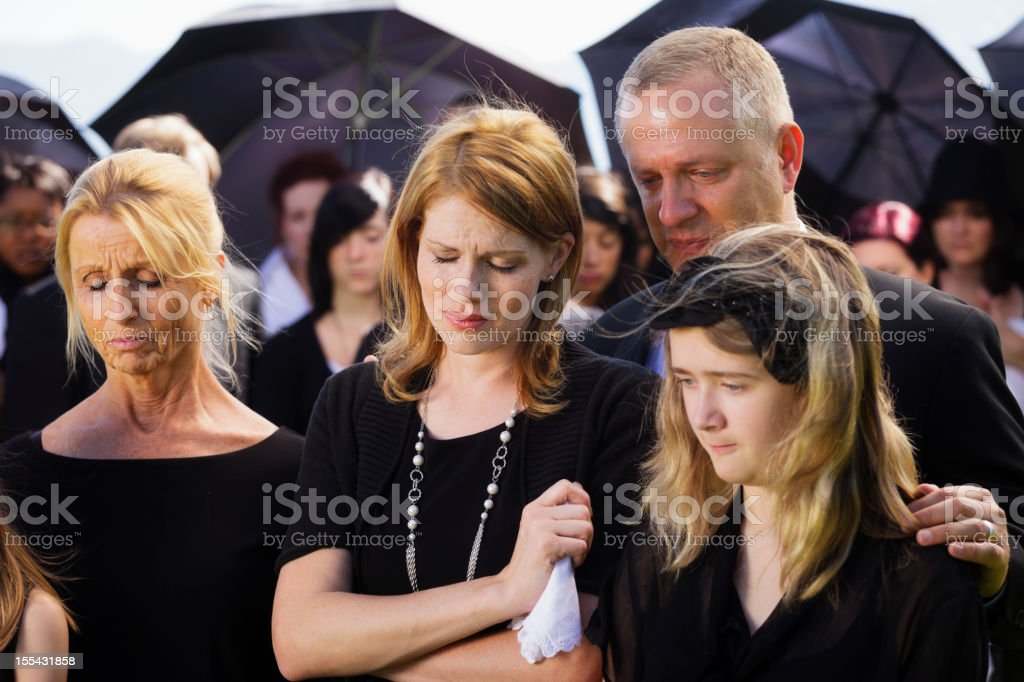 Family at a Funeral royalty-free stock photo